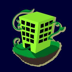 edificio verde
